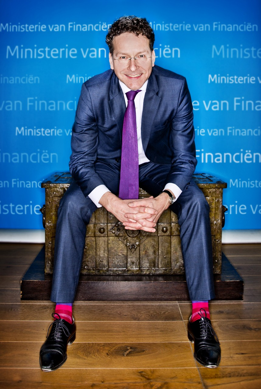 Jeroen Dijsselbloem met nieuwe sokken