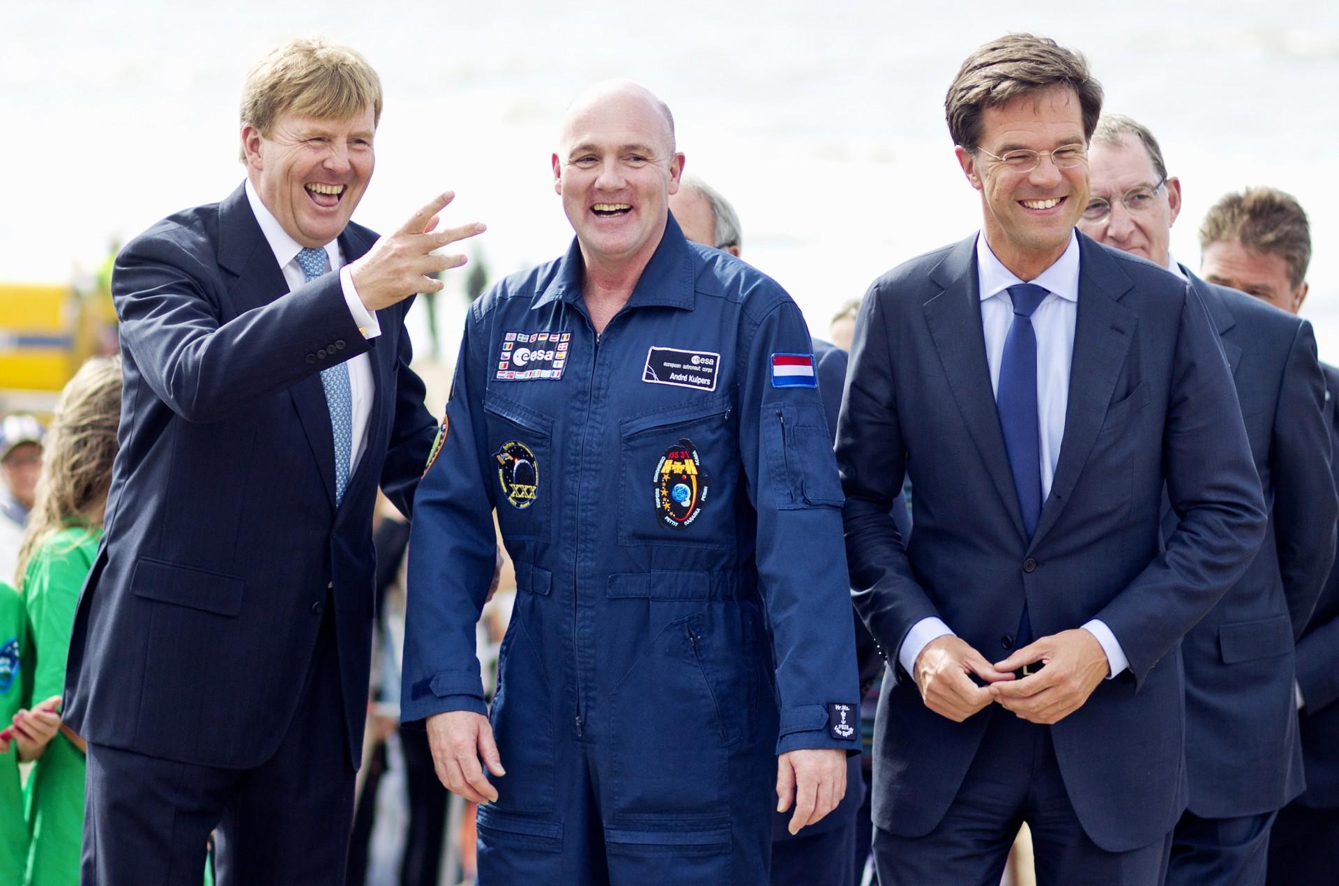 Andre Kuipers onthaald in Noordwijk aan Zee