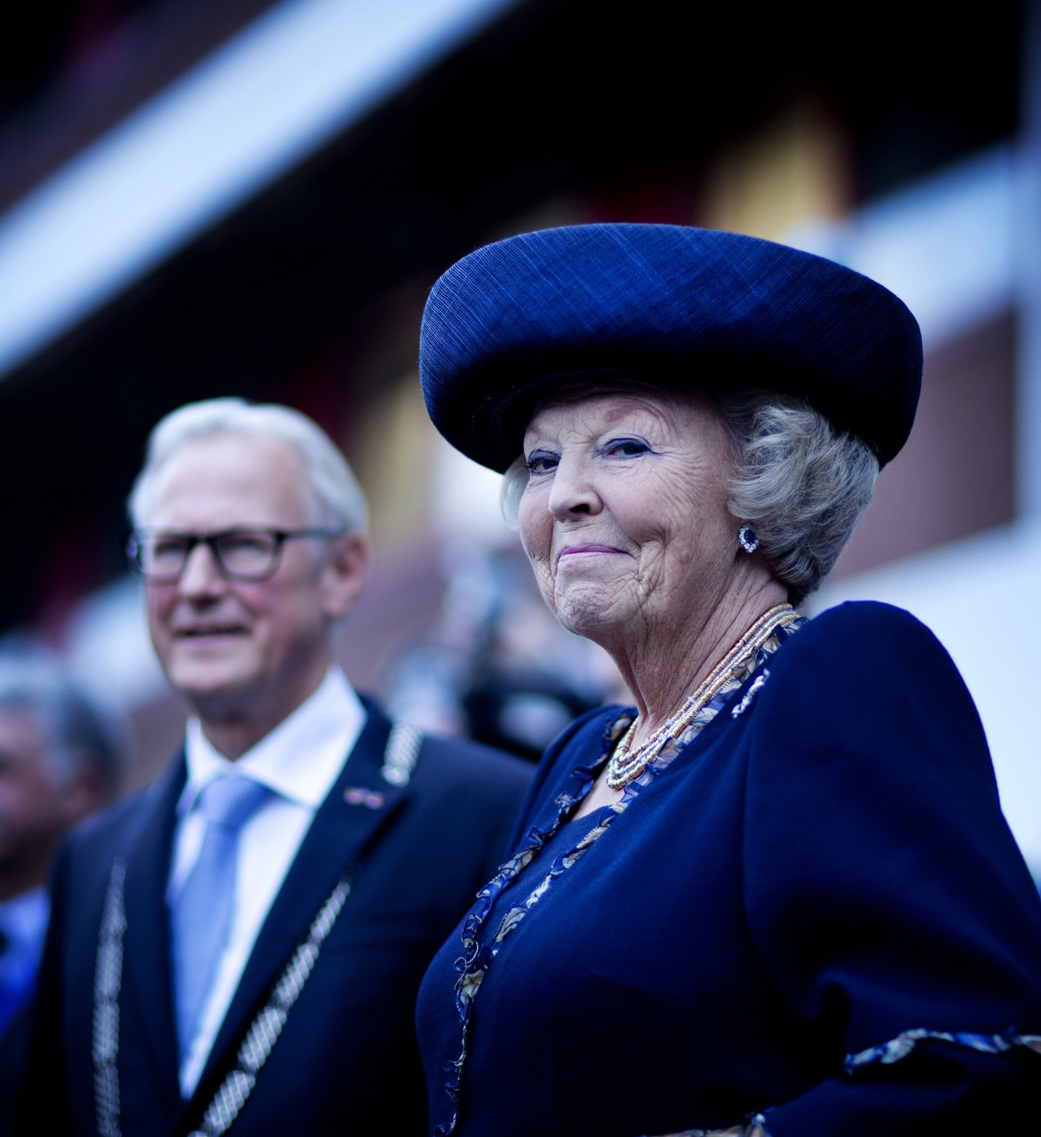 Koningin Beatrix en Italiaanse president Napolitano bij ESTEC No