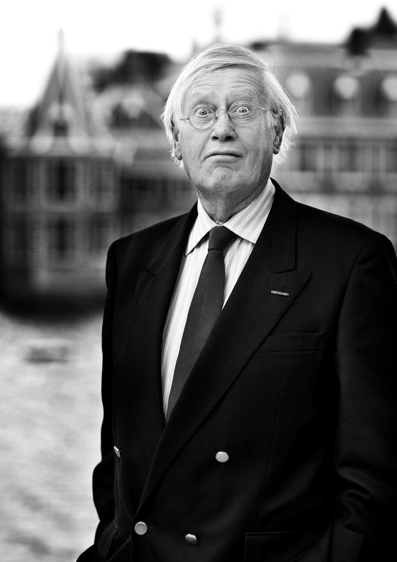 Portret oud-politicus Hans Wiegel (VVD)