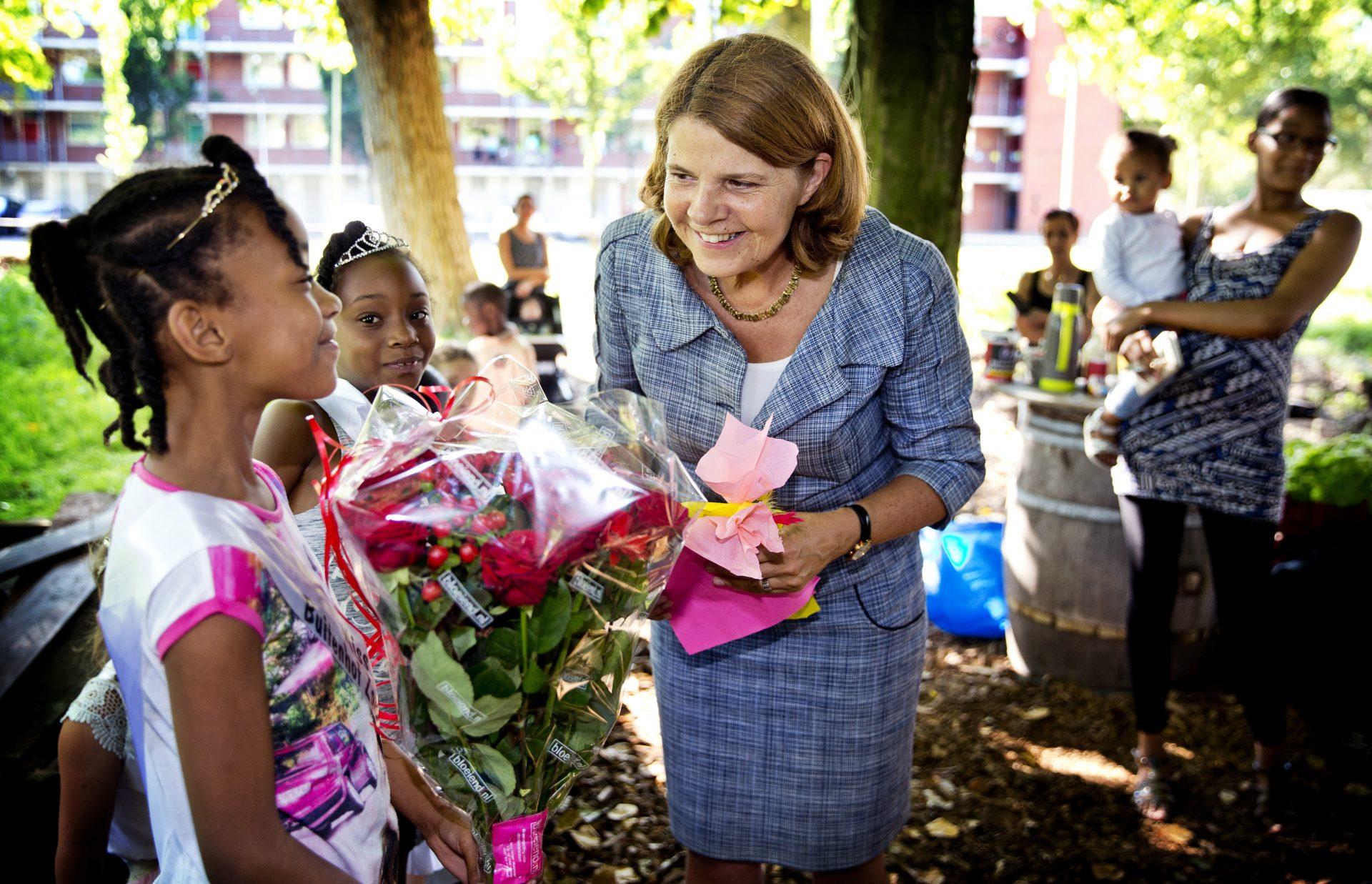 Eerste werkbezoek van burgemeester Marja van Bijsterveldt